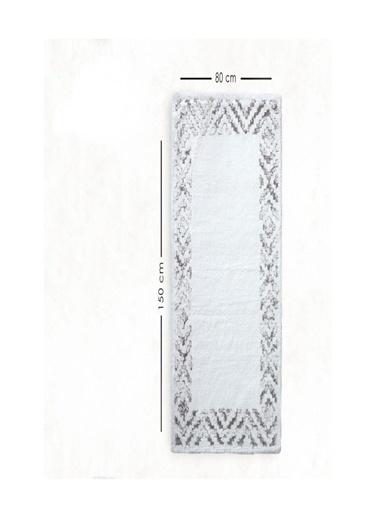 HC&W Pamuklu 2Li Set Klozet Takımı Banyo Paspası Hermes Gri Renkli